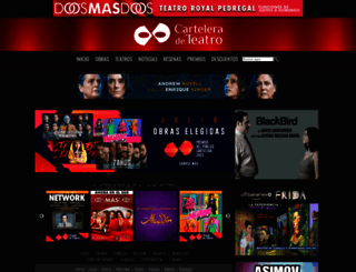 carteleradeteatro.mx screenshot