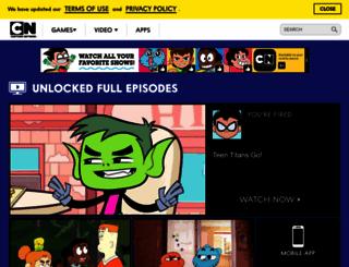 cartoonnetwork.com screenshot
