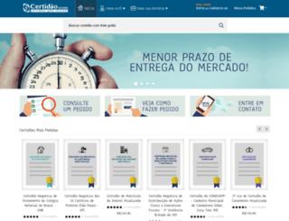 cartoriounico.com.br screenshot