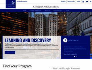 cas.gsu.edu screenshot