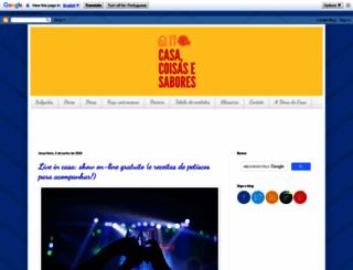 casacoisasesabores.com.br screenshot
