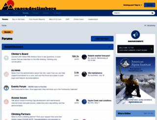 cascadeclimbers.com screenshot