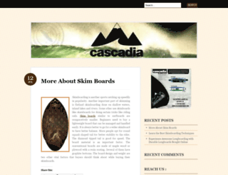 cascadiaboardco.wordpress.com screenshot