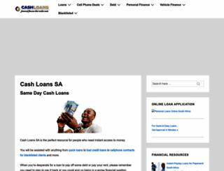 cash-loans.co.za screenshot