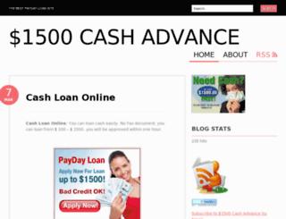 cash1hour.wordpress.com screenshot