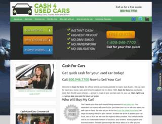 cash4usedcars.com screenshot