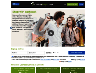 cashbackearners.co.uk screenshot