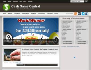 cashgamecentral.com screenshot