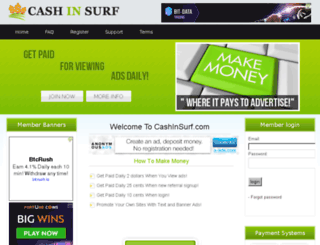 cashinsurf.com screenshot