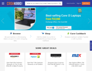 cashkaro.iamsavings.co.uk screenshot