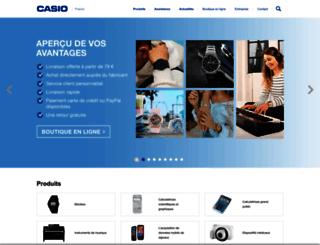 casio.fr screenshot