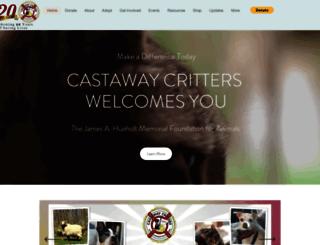castawaycritters.org screenshot