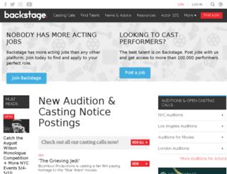 casting.backstage.com screenshot