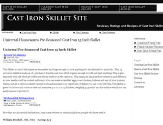 castironskilletsite.com screenshot