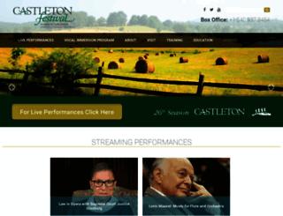 castletonfestival.org screenshot
