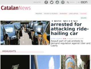 catalannewsagency.com screenshot