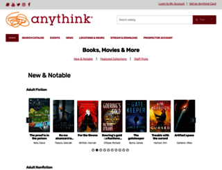 catalog.anythinklibraries.org screenshot