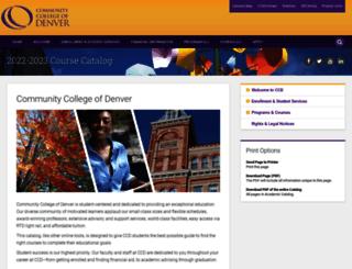 catalog.ccd.edu screenshot