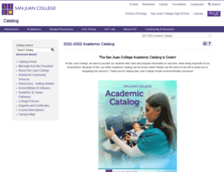 catalog.sanjuancollege.edu screenshot