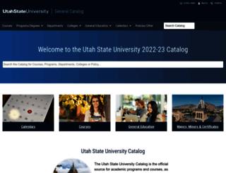 catalog.usu.edu screenshot