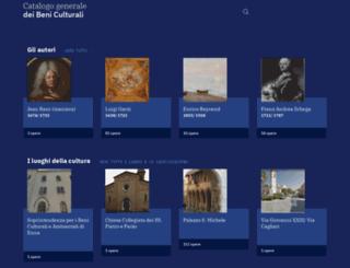 catalogo.beniculturali.it screenshot