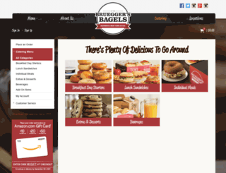 catering.brueggers.com screenshot
