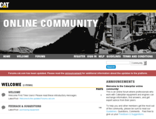 caterpillar.lithium.com screenshot
