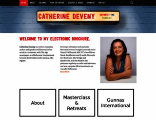 catherinedeveny.com screenshot
