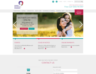 catholiccemeteries.org.au screenshot