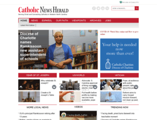 catholicnewsherald.com screenshot