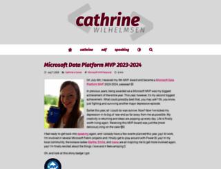 cathrinewilhelmsen.net screenshot