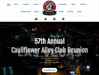 caulifloweralleyclub.org screenshot
