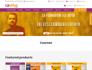 cavidya.com screenshot