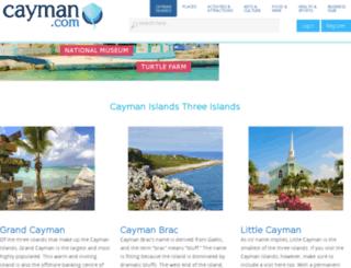 cayman.com screenshot