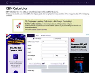 cbmcalculator.com screenshot