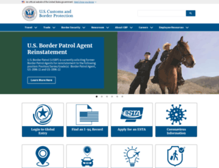 cbp.gov screenshot
