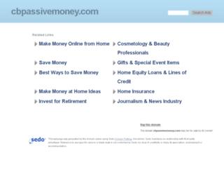 cbpassivemoney.com screenshot