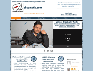 cbsemath.com screenshot