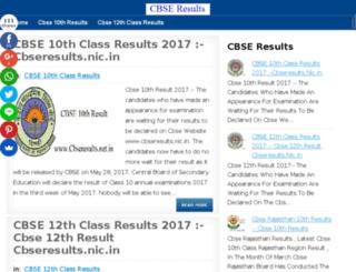 cbseresults.net.in screenshot