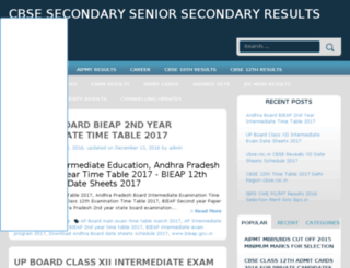 cbseresultznic.in screenshot