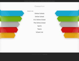 cbsesports.in screenshot