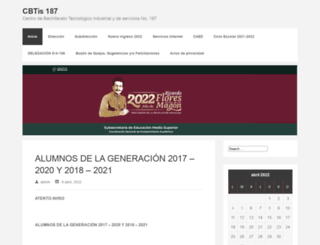 cbtis187.edu.mx screenshot