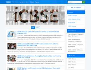cce.icbse.com screenshot
