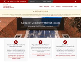 cchs.ua.edu screenshot