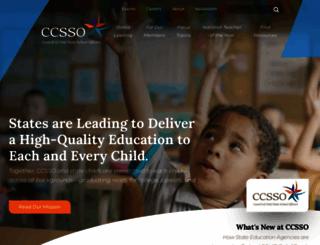 ccsso.org screenshot