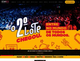 ccxp.com.br screenshot