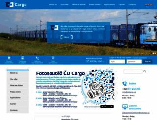 cdcargo.cz screenshot
