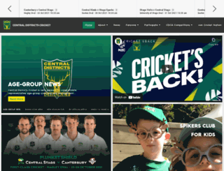 cdcricket.co.nz screenshot