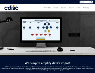 cdisc.org screenshot