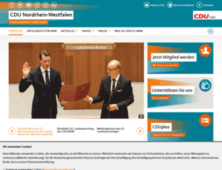 cdu-nrw.de screenshot
